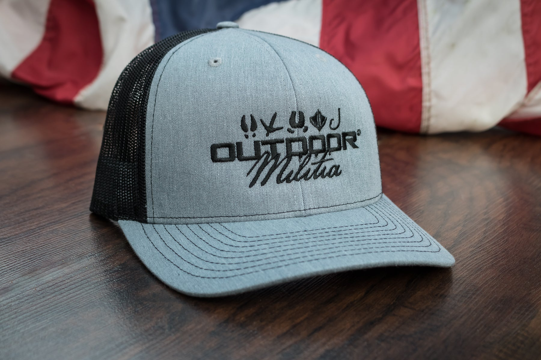 Patriot Back™ | Heather Gray / Black - Outdoor Militia®