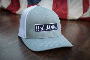 Tracks Logo™ | Heather Gray - Outdoor Militia®