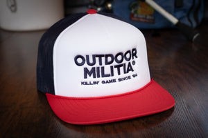 Retro Trucker | Red/White/Navy - Outdoor Militia®