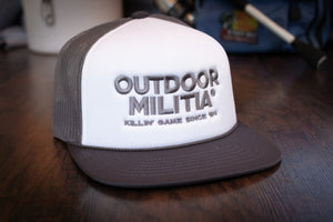 Retro Trucker | Charcoal/ White - Outdoor Militia®