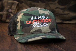 Patriot Back™ | Classic Camo - Black Back - Outdoor Militia®