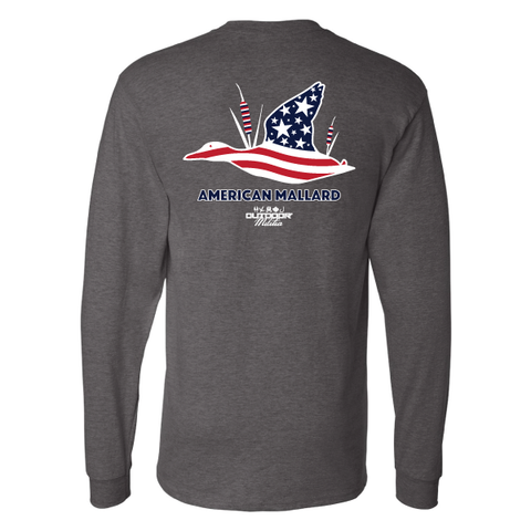 Outdoor Militia - American Mallard - T-Shirt - Long Sleeve - Hunt - Fish - America
