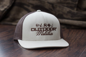Outdoor Militia - Patriot Back - Buckhide Tan Color - Hat - Meshback - Snapback