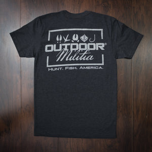 Classic Logo | Brushed Black - Outdoor Militia®