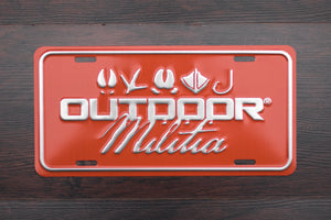 Outdoor Militia License Plate | Outdoorsman Orange - Outdoor Militia®