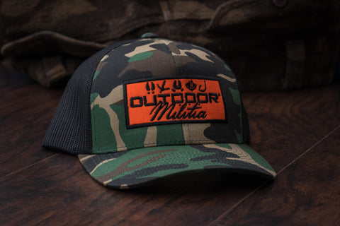 Patriot Back™ | Black Camo Patch - Outdoor Militia®