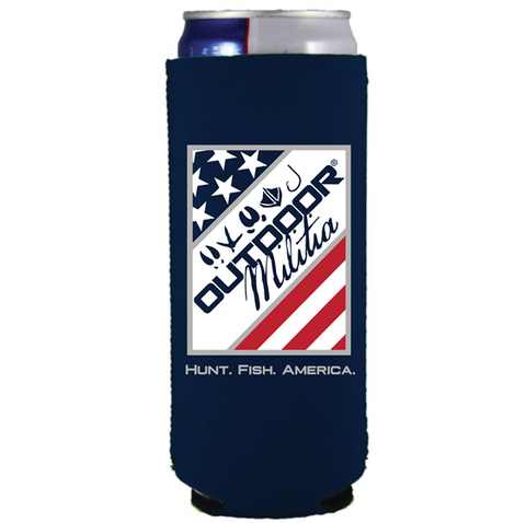SLIM Can Koozie | Stars&Stripes - Outdoor Militia®