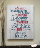 Always remember you are braver than you know Canvas Art, 16x20