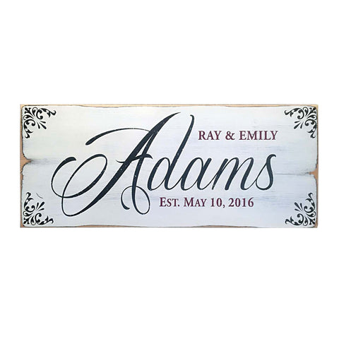 Family Established Wedding Sign, 18x7