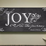 Find joy in the journey Canvas Art, 24x12