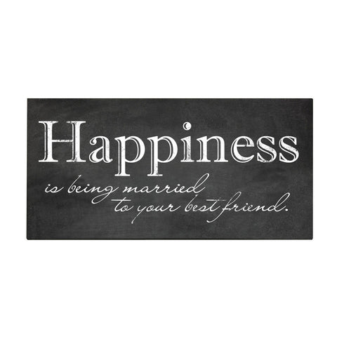 Happiness Is Being Married to Your Best Friend Wall Art 24x12