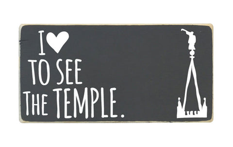 I Love To See The Temple Mini Block, 6x3