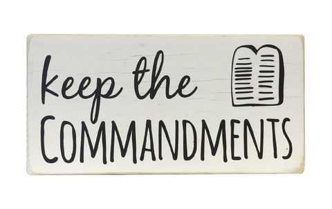 Keep The Commandments Mini Block, 6x3