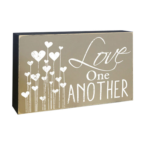 Love One Another Box Sign, Decorative Accent LDS Word Art