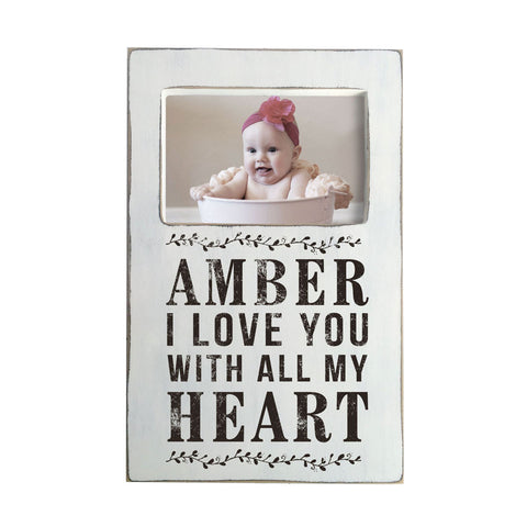 Personalized Picture Frame in Rustic Finish, 8x13