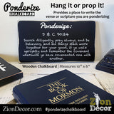 Ponderize Chalkboard for Daily Verses and Scripture Study