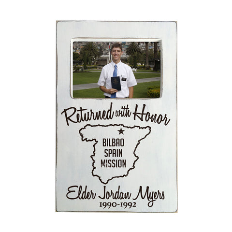 Returned with Honor Personalized Picture Frame, 8x13