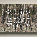 Thankful and Grateful - Grove of Trees Canvas Art, 24x12