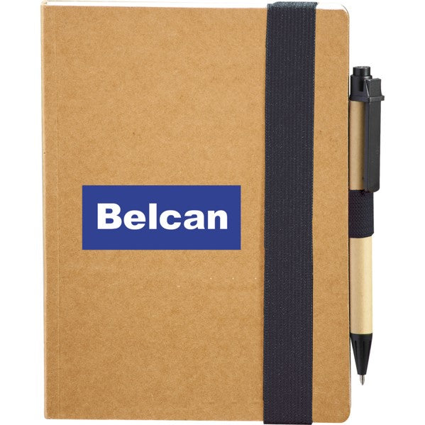 Eco Perfect Bound Notebook with Pen