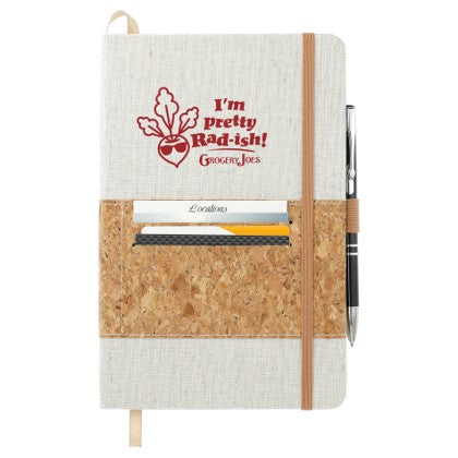 Recycled Cotton and Cork Bound Notebook