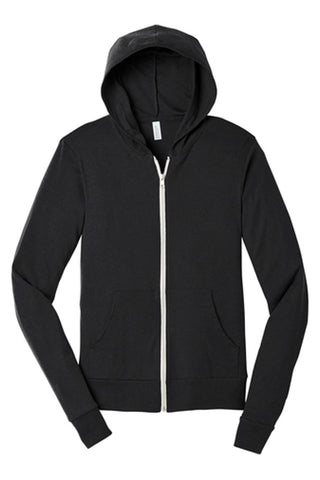 Bella+Canvas Unisex Full-Zip Lightweight Hoodie
