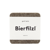 Bierfilzl Square Felt Coaster and Bottle Cozy