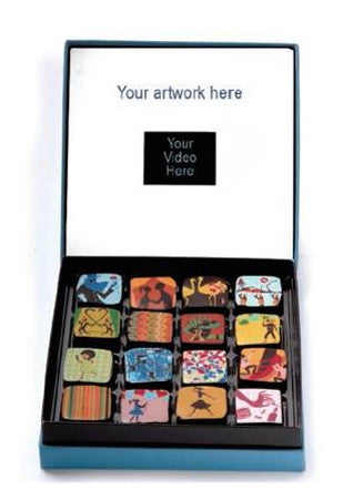 Box of Chocolates with Integrated LCD Video Player