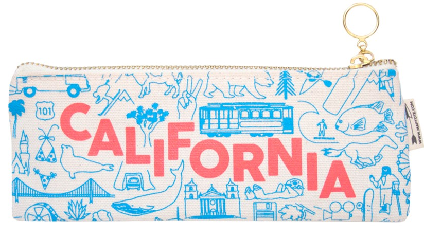 California Pencil Pouch Natural