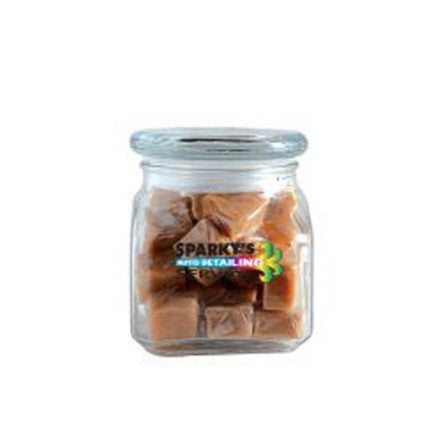 Caramels in Small Glass Jar