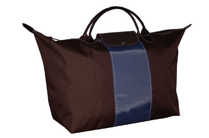 Compact Tote with Stripe - Large