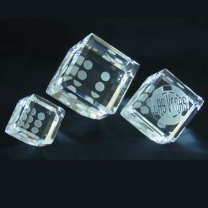 Crystal Dice Paperweight