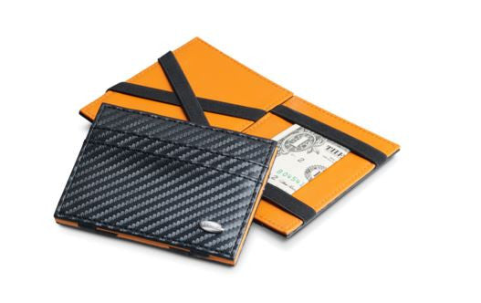 Dalvey Leather Business Card Case Carbon Fibre