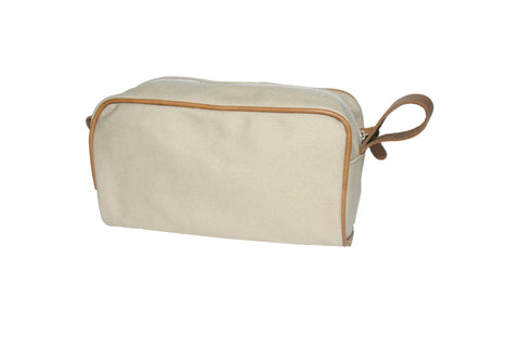 Canvas Dopp Kit - Leather Trim