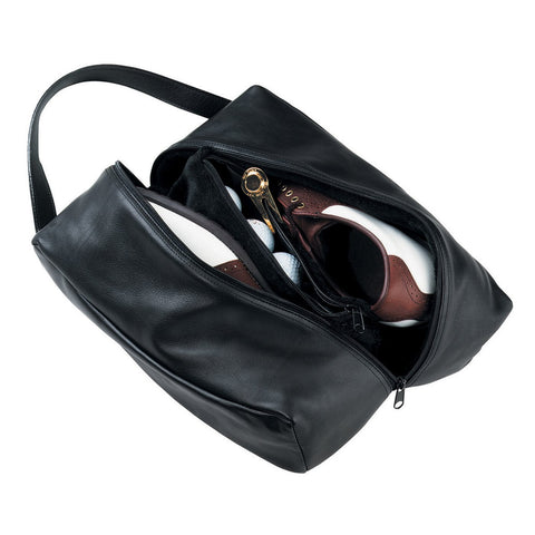 Fine Leather Golf Shoe Bag
