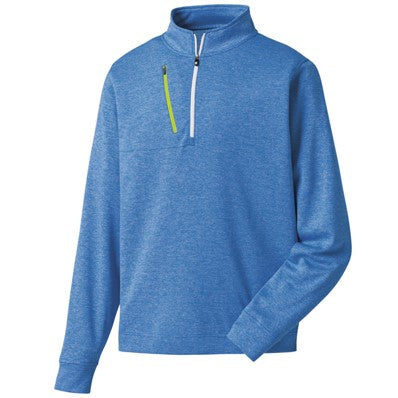 FootJoy Heather Pinstripe Half-Zip Pullover