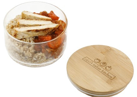 Glass Food Container with Bamboo Lid