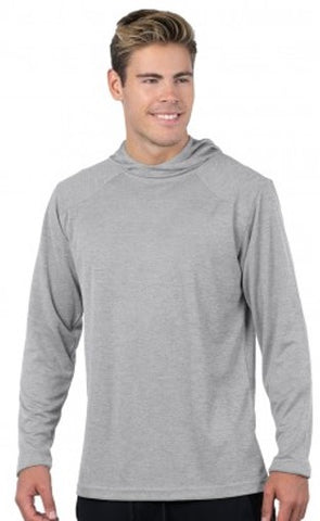 Heather Hooded Performance Pullover
