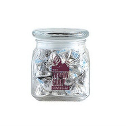 Hershey Kisses in Small Glass Jar
