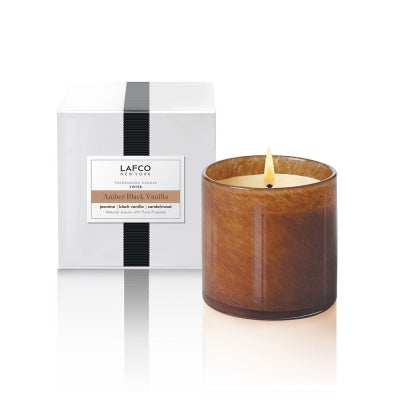 Lafco Amber Black Vanilla Foyer Candle