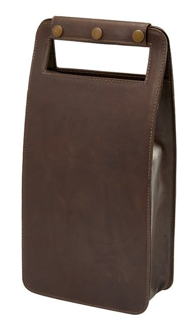 Leather Two Bottle Wine Carrier