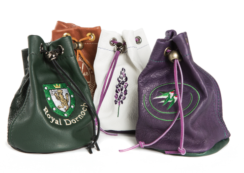 Links and Kings Drawstring Valuables Pouch
