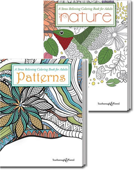 Stress-relieving Coloring Books: Patterns or Nature
