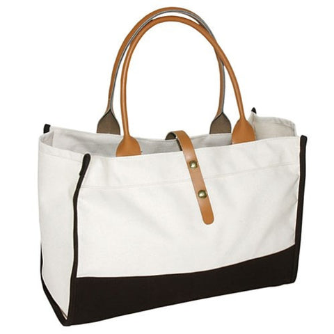 Downtown Tote - Canvas Bottom
