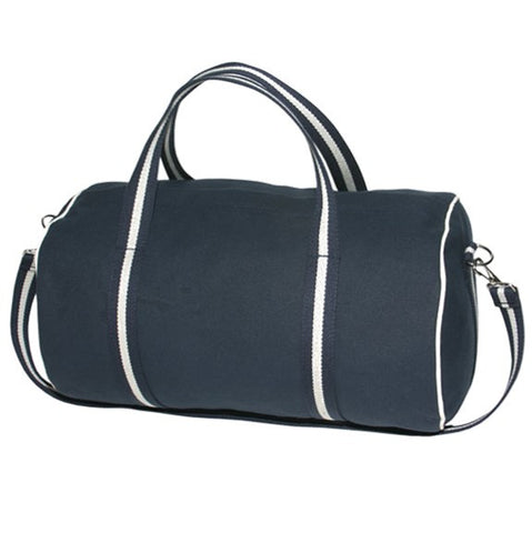Barrel-Style Country Club Duffle with Striped Handles