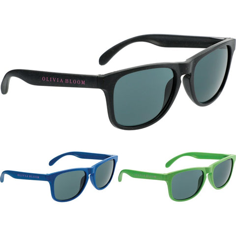 Plastic & Wheat Straw Sunglasses