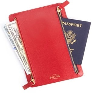 RFID Zippered Currency and Passport Travel Pouch