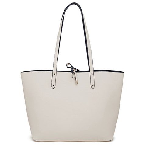 Reversible Leather Tote w/Built-in Charger