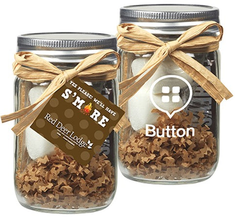 S'mores Kit in Glass Mason Jar