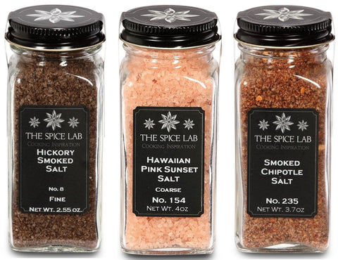 Set of 3 Gourmet Smoked Salts
