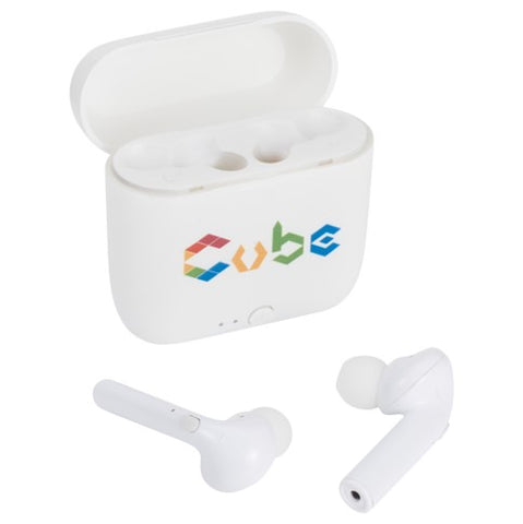 True Wireless Auto Pair Earbuds w/Case